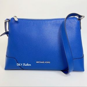 Michael Kors Crosby Pebbled Leather Messenger Bag